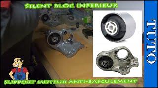 Changer ou Remplacer  silent-bloc arriere support moteur anti-basculement 407,C4,807,etc..