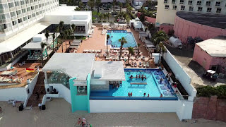 best all inclusive hotel bahamas riu paradise 4k aerial 2017
