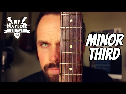 The minor third interval on guitar - guitar fretboard theory