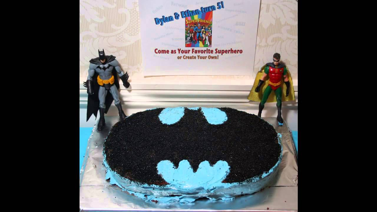Batman Party Cake Ideas Youtube