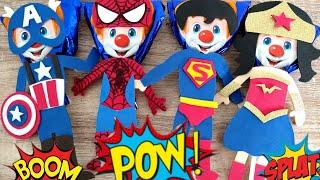 PALETAS Payaso decoradas/ Súper Héroes // Día del niño// ideas para el día del niño