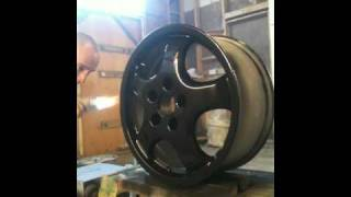 xiom wheel powder coating