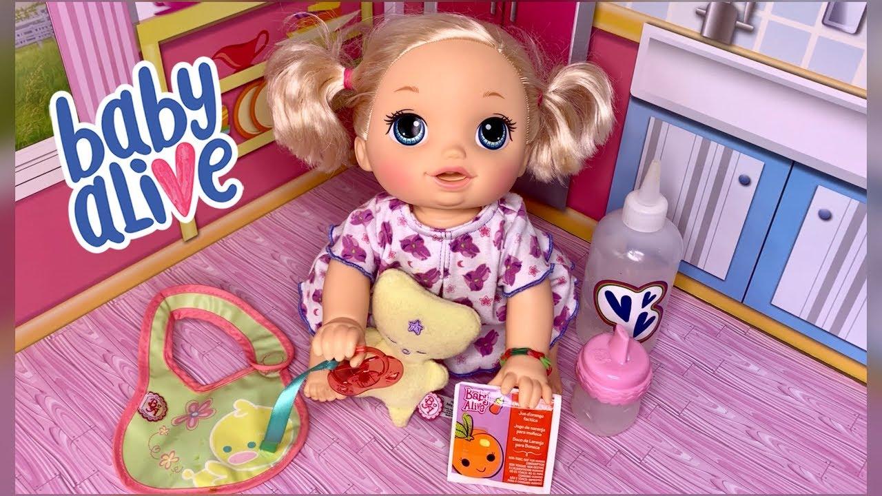 Baby alive video baby go bye bye Holly feeding and ...