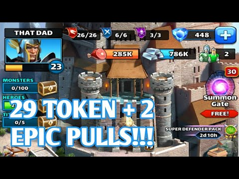 EPIC HERO + EPIC TROOP AND 29 TOKEN PULL!!!  EMPIRES AND PUZZLES