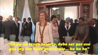 Errores de protocolo | Almuerzo ofrecido a la reina Sofía en el palacio presidencial de Mozambique