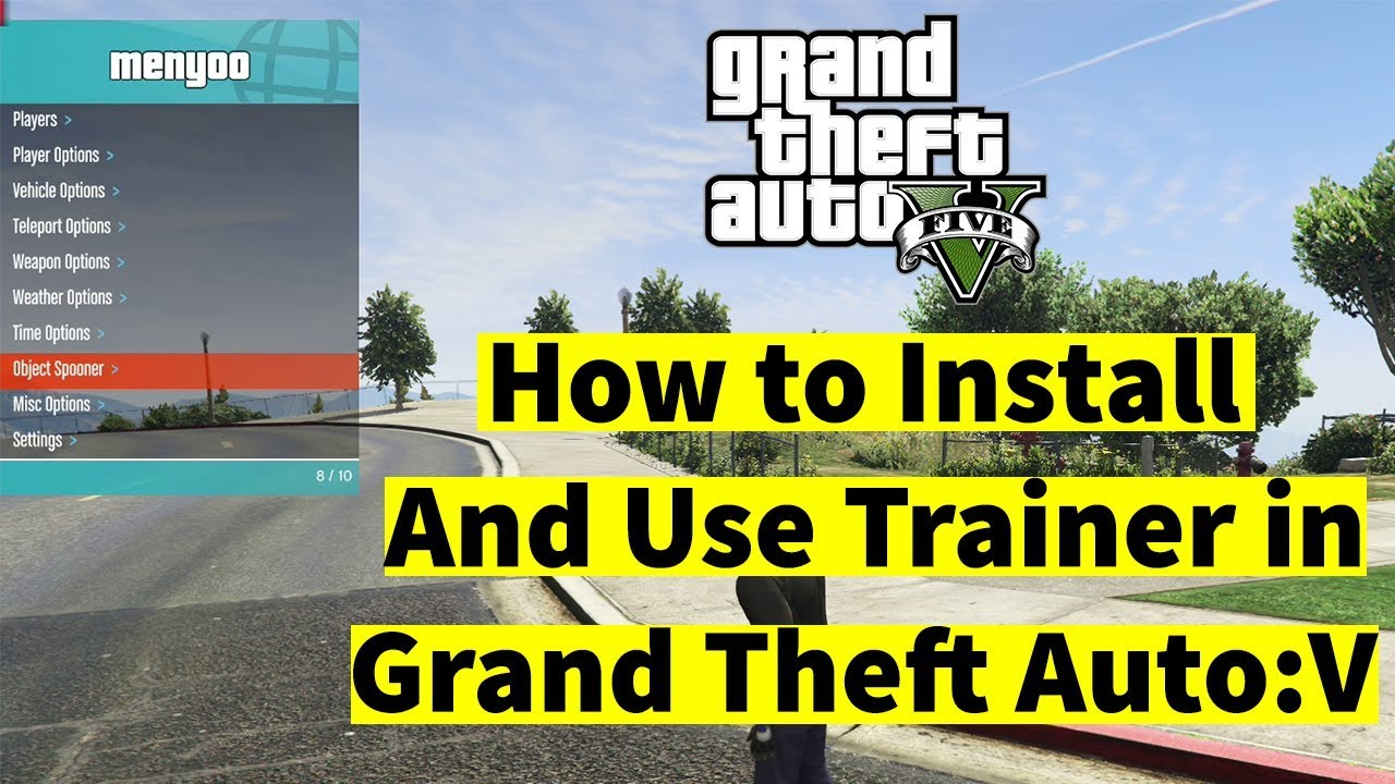 How to Install & Use Trainer(Mod Menu) in GTA V   Menyoo Trainer Mod 2019
