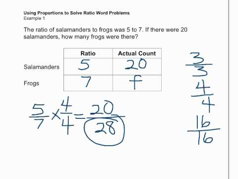 Solving ratio word problems