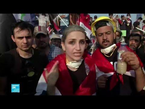 المرأة العراقية في قلب المظاهرات المطالبة بالتغيير