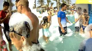 #волковы,#тунис, ПЕННАЯ ВЕЧЕРИНКА В ТУНИСЕ .Отель HOUDA GOLF & BEAC