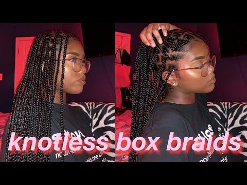 Comment Faire Des Tresses Avec Rajouts Knotless Box Braids Tutoriel Detaille Sur Cheveux Crepus Youtube