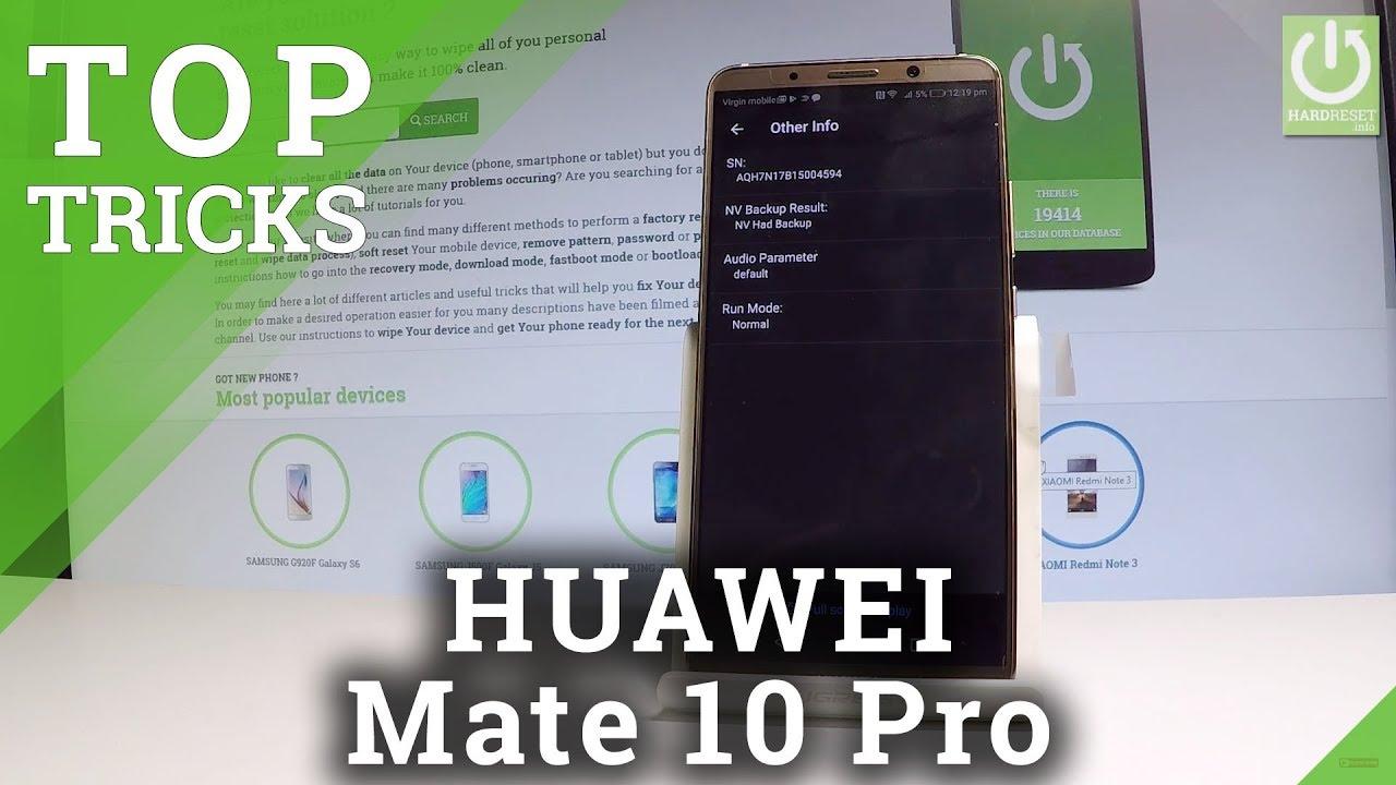HUAWEI Mate 10 Pro SECRET MENU / CODES / TRICKS