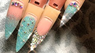 Disney Princess Series: Cinderella | Acrylic Nail Tutorial