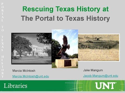 The Rescuing Texas History Mini-Grant Program: Collaboration...