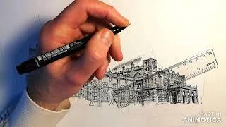 Kelvingrove time lapse drawing