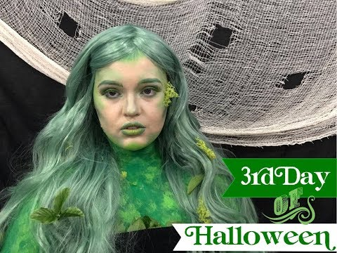 12 DAYS OF HALLOWEEN | DAY 3 | GREEN GODDESS MOTHER NATURE MAKEUP TUTORIAL