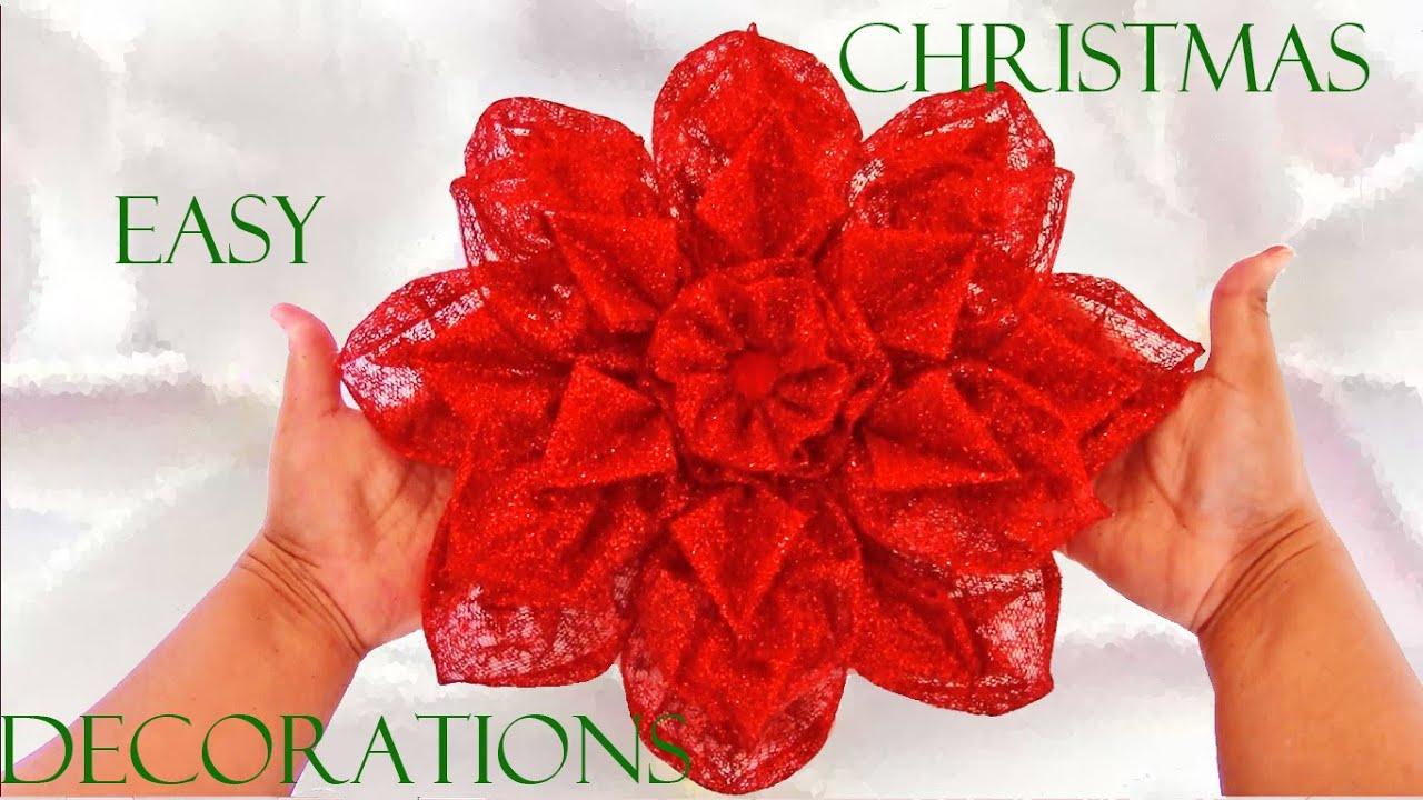 Como hacer flores navide as how to make christmas bows - Crear christmas de navidad ...