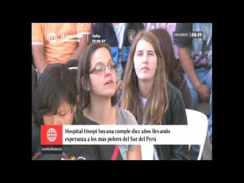 Informe América TV canal 4, 10 años Hospital Diospi Suyana 2017