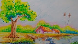 scenery draw easy drawing drawings landscapes tutorial drawingartpedia sketch pencil paintingvalley