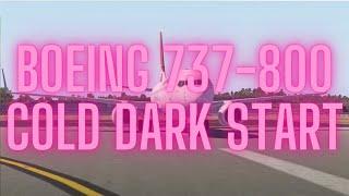 X-Plane 11 | Boeing 737-800 | Cold Dark Start Guide