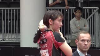 女子シングルス2回戦 加藤美優 vs ゴ エイラン 第6ゲーム