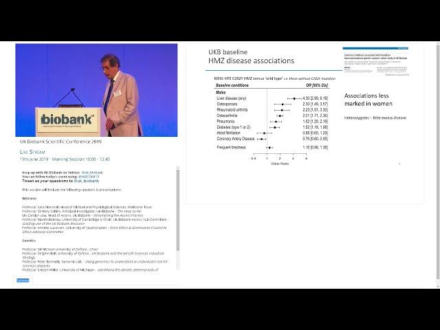Professor David Melzer - Associations with haemochromatosis genetic variants