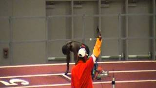 Will Claye 200m UNM 1-20-12 Cherry And Silver Track Meet