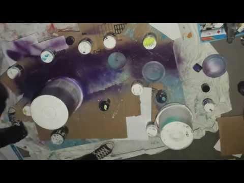 Speed Painting in Artist's Studio. New Zealand.