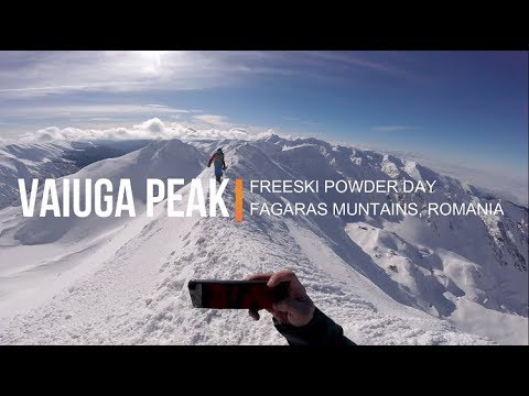 FAGARAS MOUNTAINS POWDER DAY, VAIUGA PEAK NEAR BALEA LAC, ROMANIA