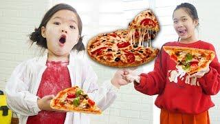 Kiều Anh Làm Bánh Pizza Hải Sản ❤ Học Làm Chị Cả - Trang Vlog