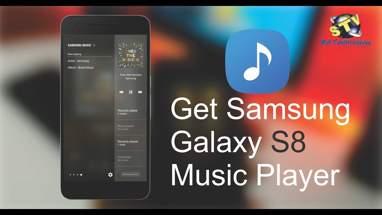 how to get samsung galaxy s8 mp3 music player youtube. Black Bedroom Furniture Sets. Home Design Ideas