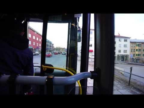 Sweden, Stockholm, 748 bus ride from Södertälje train station to Fittja Centrum