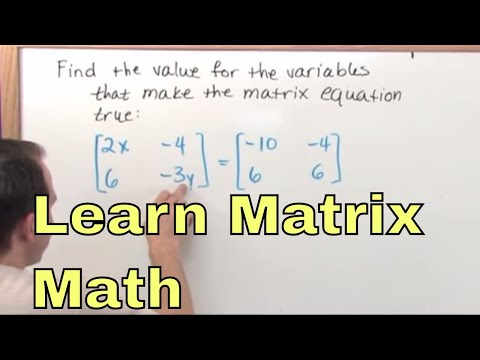 1 - Intro To Matrix Math (Matrix Algebra Tutor) - Learn how to