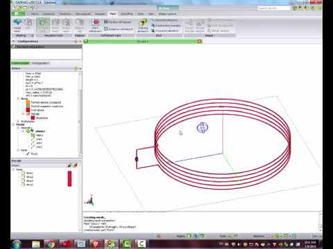 13 56 coil antenna for NFC design with FEKO