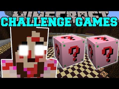 Minecraft: JEN THE KILLER CHALLENGE GAMES - Lucky Block Mod - Modded Mini-Game