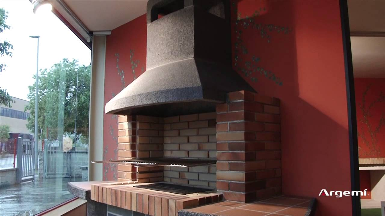 Chimeneas de dise o y barbacoas de obra argem youtube for Chimeneas de obra