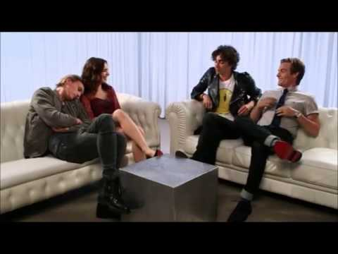 Jamie Campbell Bower and Lily Collins adorable moment