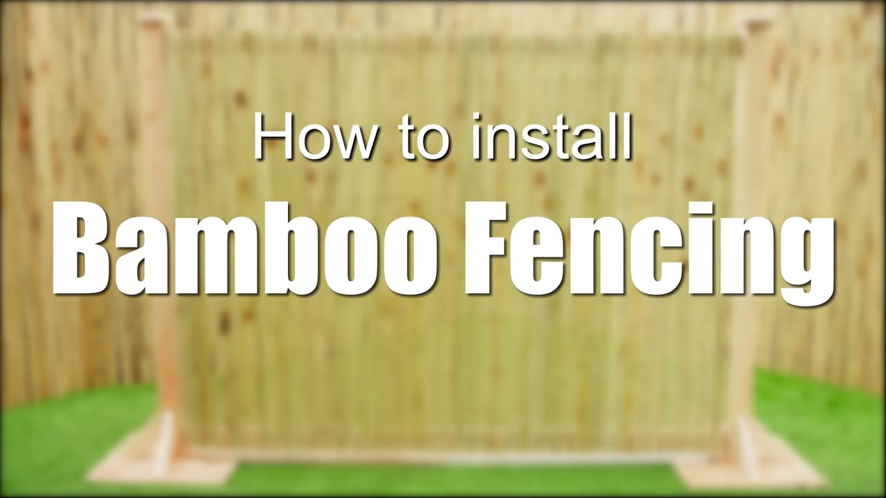 DIY Bamboo Fencing Installation - Easy Tutorial