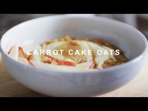 Vegan Carrot Cake Oats | ASMR Cooking