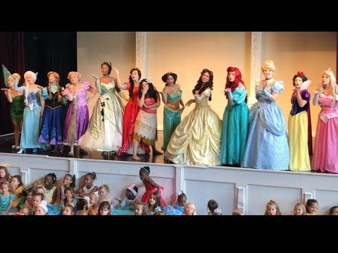 Thumbnail: Disney Princess Party Fairytale Ball Elsa Anna Rapunzel Ariel Elena Belle Tiana