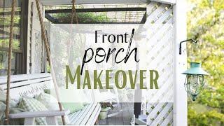 Porch Makeover 2020 ~ Front Porch Decor ~ Outdoor Spaces ~ Cottage Style Porch ~ Patio Ideas