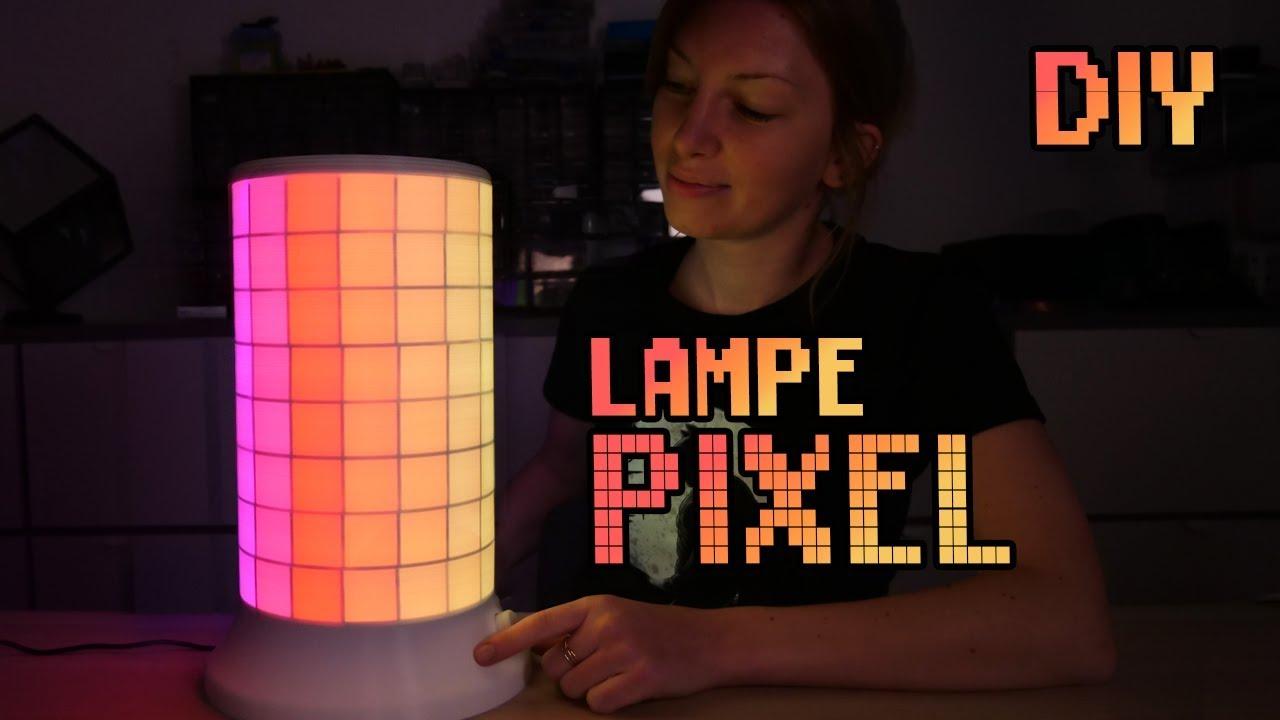 Comment fabriquer cette magnifique Lampe Pixel Animée ?