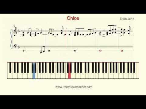 """How To Play Piano: Elton John """"Chloe"""" Piano Tutorial by Ramin Yousefi"""