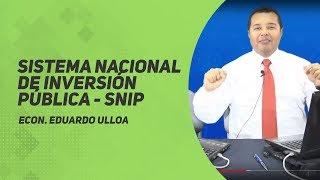 SNIP- Sistema Nacional de Inversión Pública