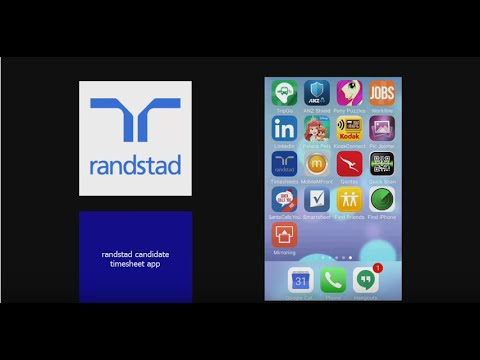 Randstad Mobile Timesheet App - Candidate Training