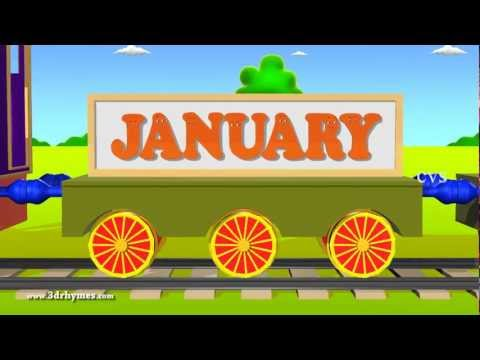 Months of the year song - 3D Animaton Preschool Nursery rhymes for children