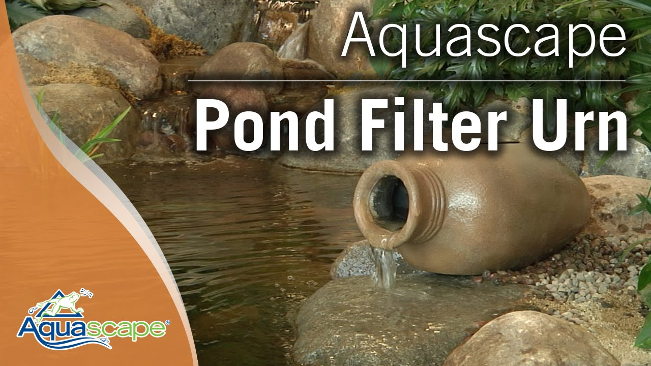 Filtration for small water features with aquascape 39 s pond for Outside pond filter