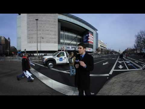 WEBN News Inauguration Parade Preparations Live Shot 360 View