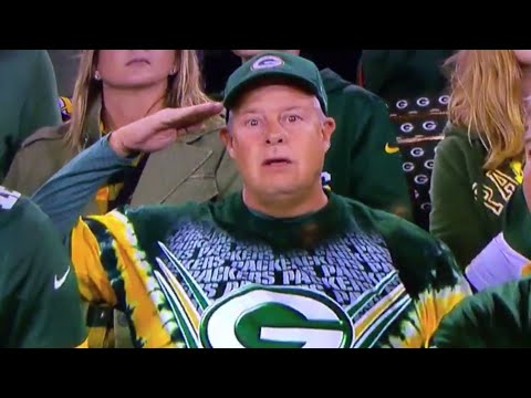 NATIONAL ANTHEM!!! CHICAGO BEARS @ GREEN BAY PACKERS!!! NFL NATIONAL ANTHEM PROTEST!!!