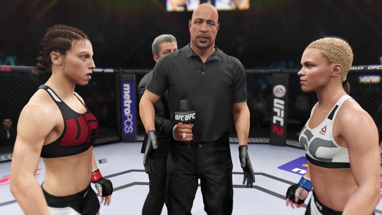 EA SPORTS™ UFC® 2 Joanna Jedrzejczyk vs Ronda Rousey - YouTube