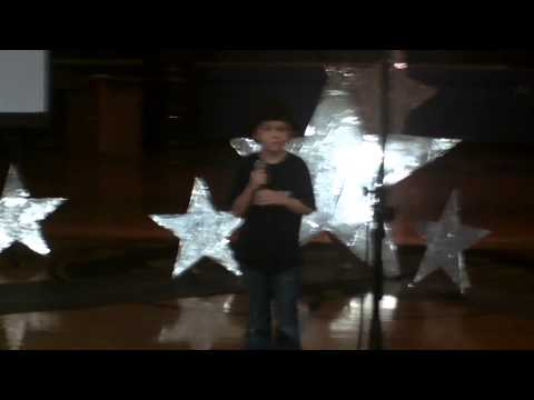 Noah singing Rolling in the Deep at Ashe County Middle School - Stand By Me